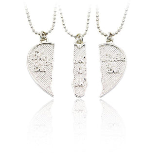 """Big Sis MOM Little Sis"" 3pcs/set Engarved Necklace"
