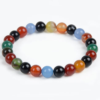 Multicolor Agate Natural Stone Bracelet