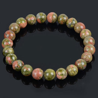 Flower Greenstone Natural Stone Bracelet
