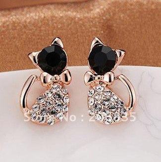 Jeweled Cat Earrings