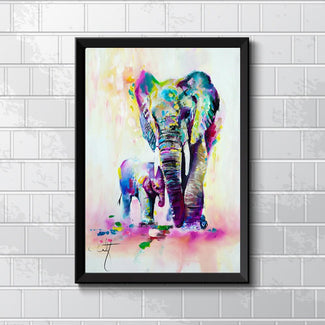 Unframed Elephant Canvas Art