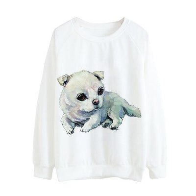 Dog Print Sweatshirt - Giftolution