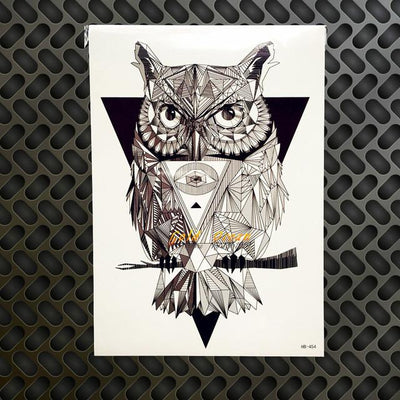 Temporary Owl Tattoo - Giftolution