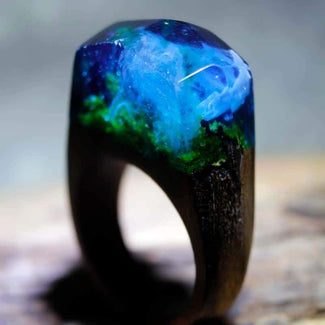 Handmade Misty Forest Ring