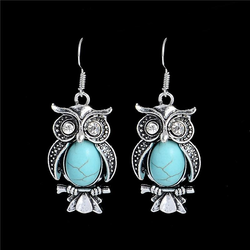 Turquoise Owl Earrings - Giftolution