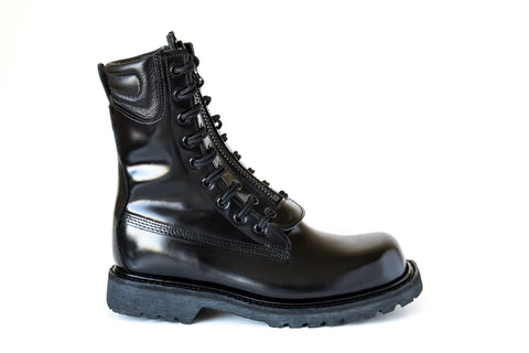 firefighter boot leather vibram steel toe