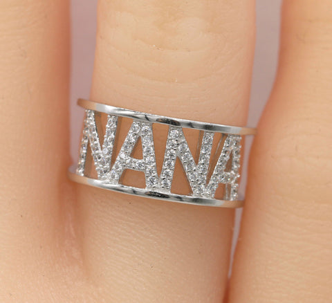Sterling Silver NANA Ring #117