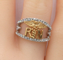 Two-tone Registered Nurse Ring #937