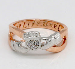 Two-tone Claddagh Ring #952