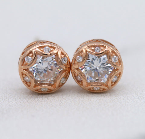 Art Deco Sterling Silver Stud Earrings E012