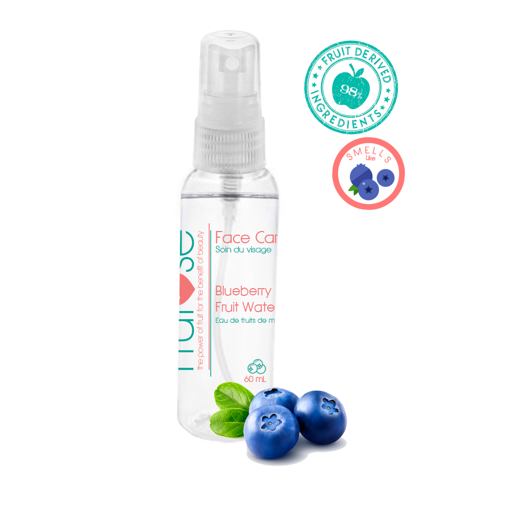 Face Care Blueberry Fruit Water, 60 mL, 1 unit, fruit lovers, blueberry lovers