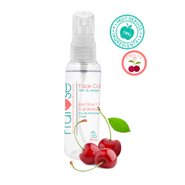 Face Care Red Sour Cherry Fruit Water, 60 mL, 1 unit, fruit lovers, Cherry lovers
