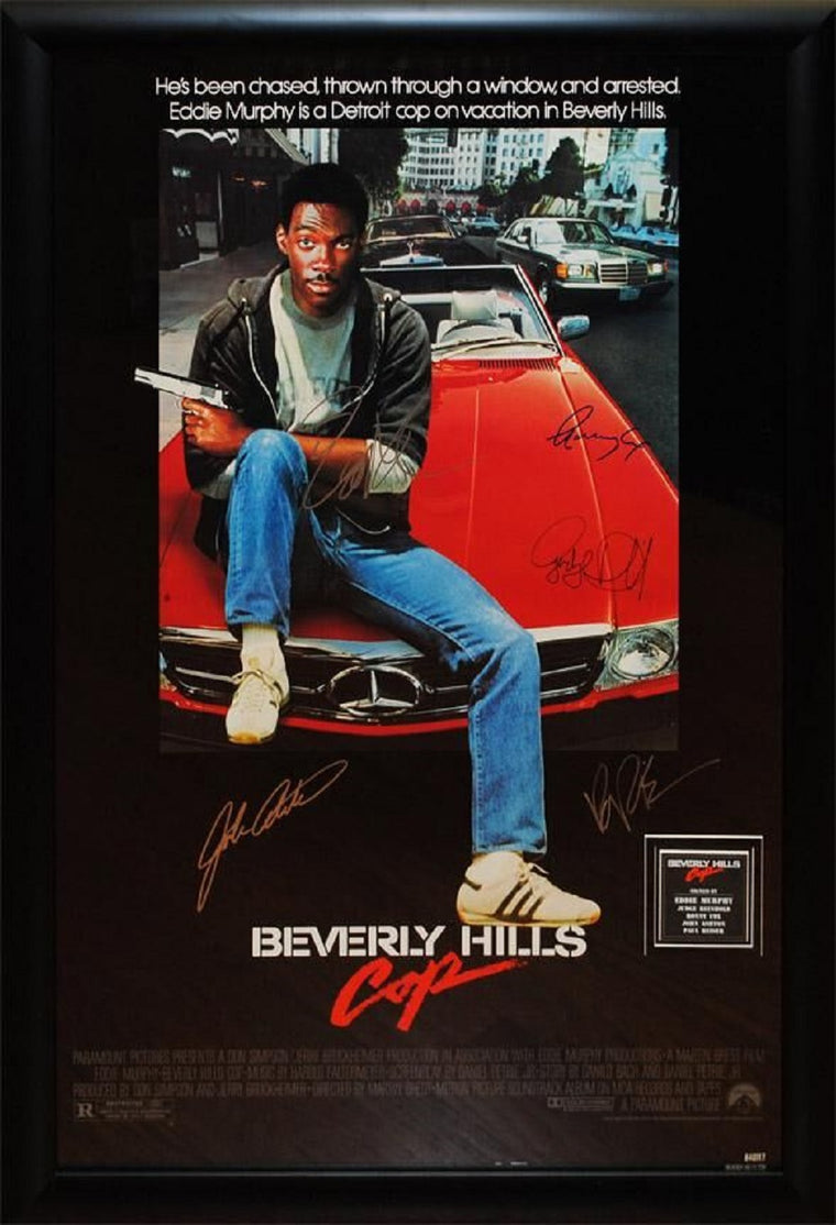 Beverly Hills Cop -  Signed Movie Poster in Wood Frame with COA