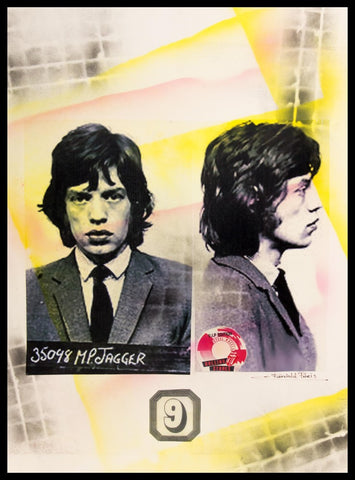 Mick Jagger Mug Shot Poster by Fairchild Paris
