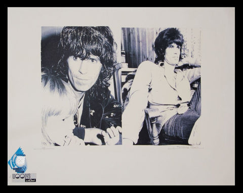 Keith Richards Woody's on the Beach Advertising Poster by Fairchild Paris