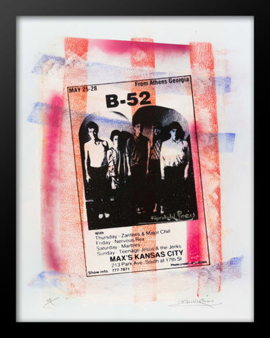 B-52s Rare Concert Poster Print by Fairchild Paris
