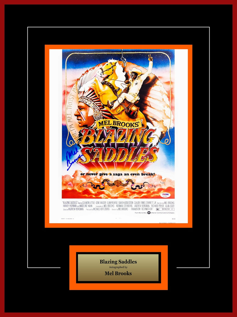 Blazing Saddles - Signed Mel Brooks - Framed Artist Series