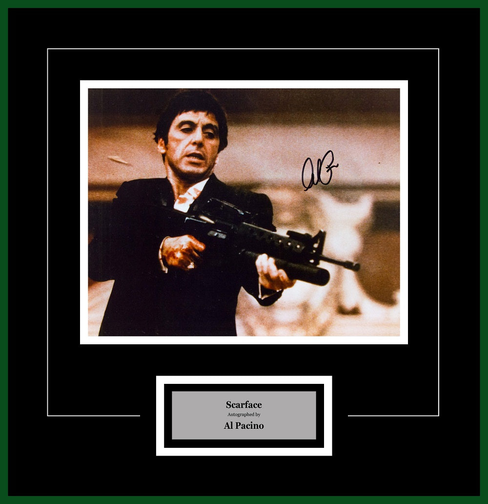 Scarface Signed Al Pacino Framed Artist Series Front Row