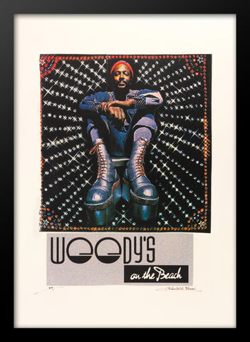 Marvin Gaye Woody's on the Beach Advertising Poster by Fairchild Miami