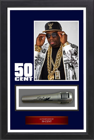 50 Cent - Signed Microphone in Custom Framed Case