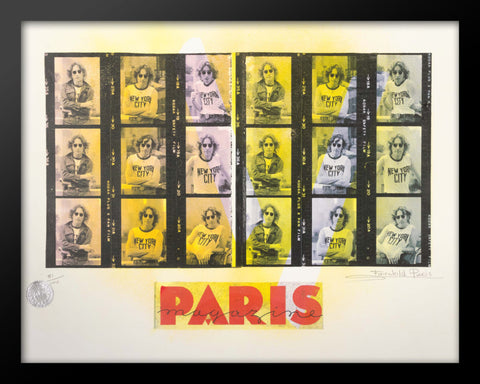 Paris Magazine John Lennon Advertising Poster by Fairchild Paris