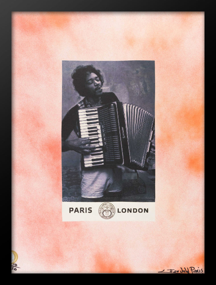 Jimi Hendrix Poster by Fairchild Paris