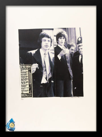 Mick Jagger Keith Richard Leaving Courthouse Poster by Fairchild
