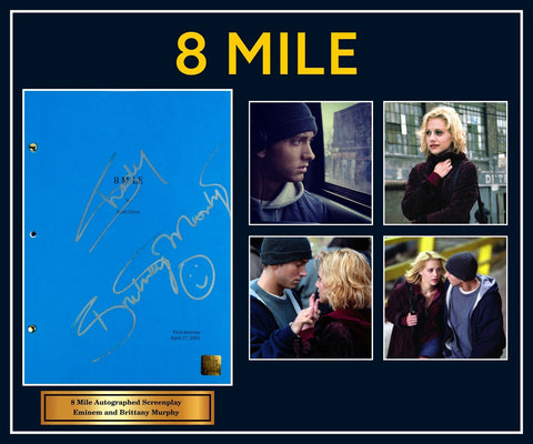 8 Mile - Signed Movie Script in Photo Collage Frame