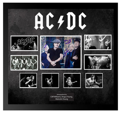 AC/DC - Signed Photo Collage in Framed Case