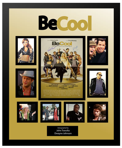 Be Cool - Signed by Cast Movie Photo Collage in Framed Case