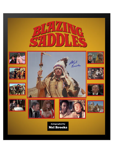 Blazing Saddles Mel Brooks - Framed Autographed Collage