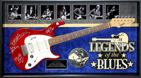 Legends of the Blues 7 signatures from Blues legends - signed guitar - LuxeWest