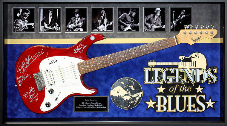 Legends of the Blues 7 signatures from Blues legends - signed guitar