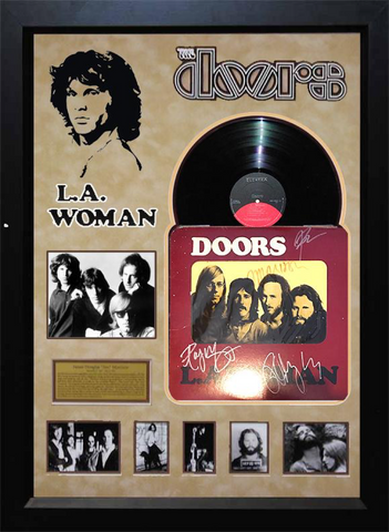 The Doors Rare Band-Signed L.A. Woman Album