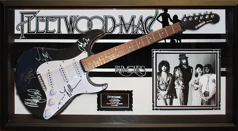 Fleetwood Mac - Signed Guitar Rumours Custom Framed
