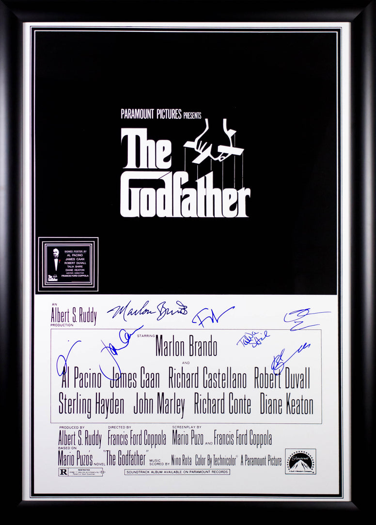 The Godfather - Signed Movie Poster With Brando Signature