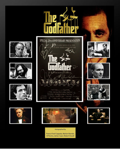 The Godfather - Signed by Cast Movie Photo Collage in Framed Case