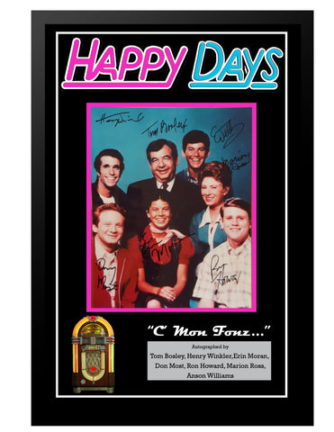 Happy Days  - Framed Autographed Collage