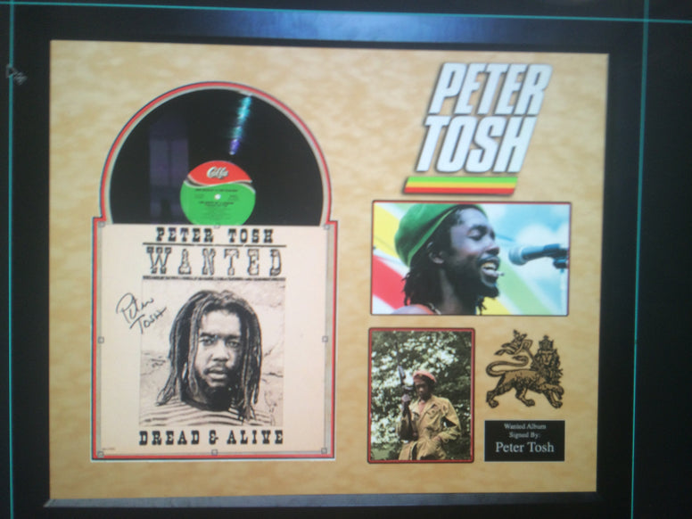 "Peter Tosh  signed "" Wanted Dread & Alive"" album - LuxeWest"