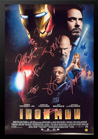 Iron Man Signed Movie Poster - Custom Framed