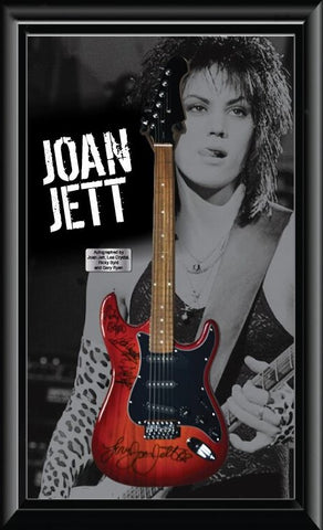 Joan Jett & The Blackhearts Signed Guitar - Custom Framed with COA