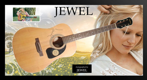 Jewel Signed Guitar in Framed Case