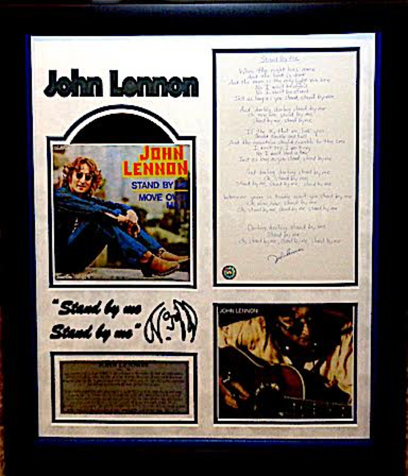 "John Lennon  Handwritten Lyrics ""Stand by me"""