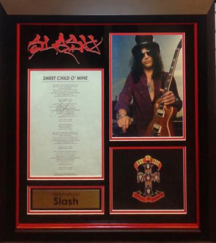 "SLASH Printed Lyrics ""Sweet Child o' Mine"""