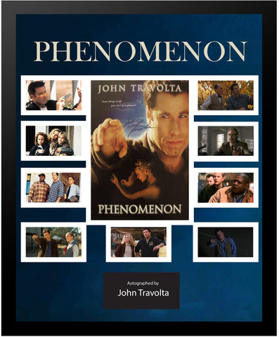 Phenomenon - Signed by John Travolta Movie Photo Collage in Framed Case