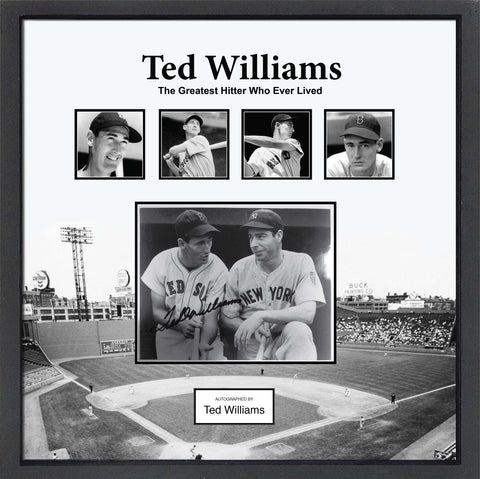 Ted Williams Signed Collage - Custom Framed
