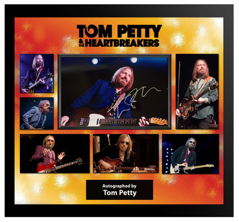 Tom Petty - Signed Photo Collage in Framed Case