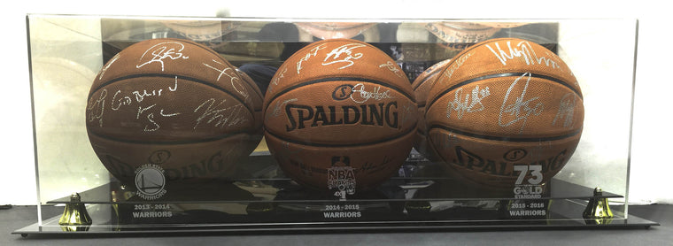 Golden State Warriors Team Signed Balls 2013-14, 2014-15 and 2015-16.