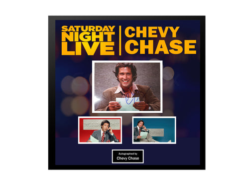 Chevy Chase - Saturday Night Live  - Framed Autographed Collage