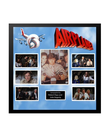 Airplane - Framed Autographed Collage